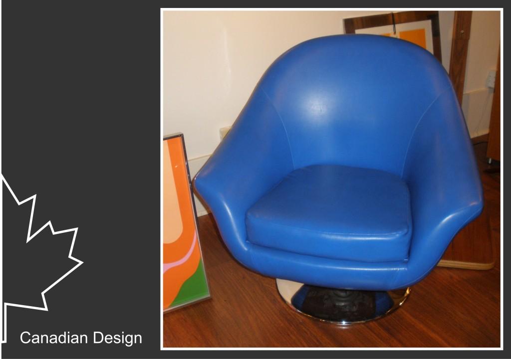 Canadian Design - Blue Chair